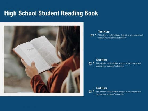 High School Student Reading Book Ppt PowerPoint Presentation Gallery Layout Ideas PDF