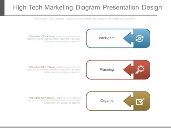 High Tech Marketing Diagram Presentation Design