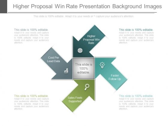 Higher Proposal Win Rate Presentation Background Images