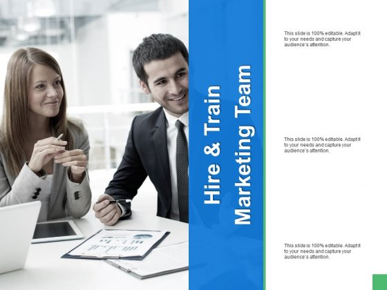 Hire And Train Marketing Team Ppt PowerPoint Presentation Icon Inspiration