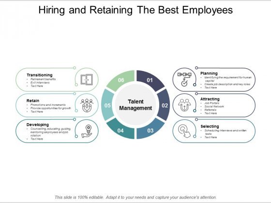 Hiring And Retaining The Best Employees Ppt PowerPoint Presentation Themes