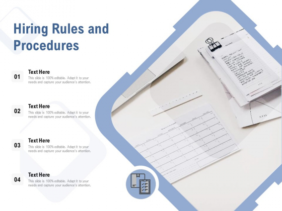 Hiring Rules And Procedures Ppt PowerPoint Presentation Model Graphics Example