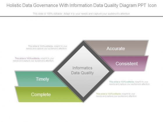 Holistic Data Governance With Information Data Quality Diagram Ppt Icon