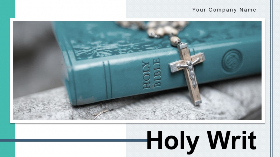 Holy Writ Cross Sign Circle Ppt PowerPoint Presentation Complete Deck With Slides