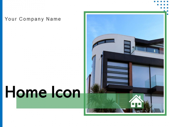 Home Icon Mirror Glass Construction Ppt PowerPoint Presentation Complete Deck