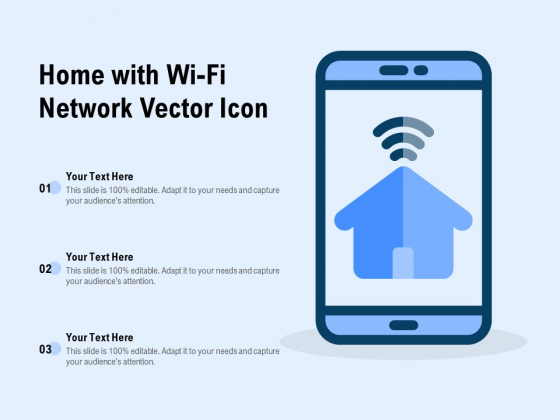 Home With Wi Fi Network Vector Icon Ppt Summary Slide PDF