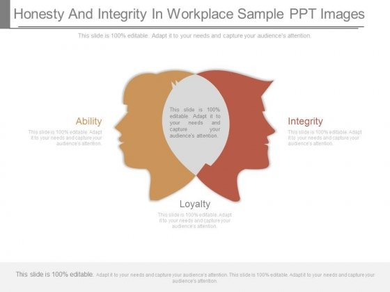Honesty And Integrity In Workplace Sample Ppt Images