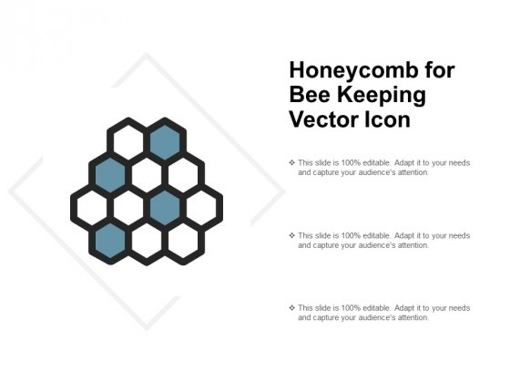 Honeycomb For Bee Keeping Vector Icon Ppt PowerPoint Presentation Slides