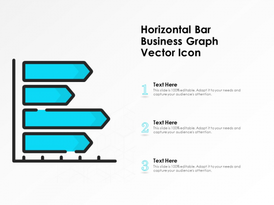 Horizontal Bar Business Graph Vector Icon Ppt PowerPoint Presentation Icon Slides PDF
