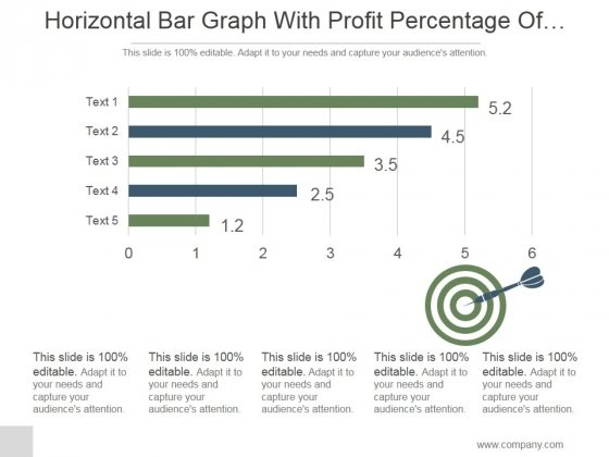 Horizontal Bar Graph With Profit Percentage Of Company Ppt PowerPoint Presentation Shapes