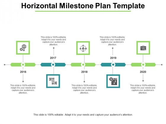 Horizontal Milestone Plan Template Ppt PowerPoint Presentation Icon Background Designs