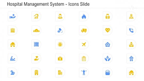 Hospital Management System Icons Slide Portrait PDF