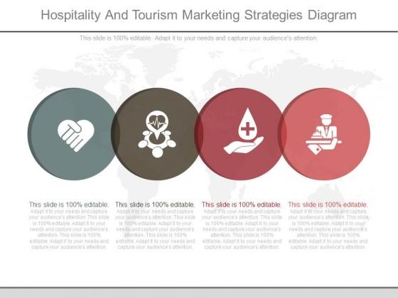 Hospitality And Tourism Marketing Strategies Diagram