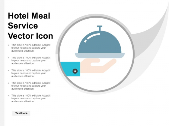 Hotel Meal Service Vector Icon Ppt PowerPoint Presentation Ideas Outfit
