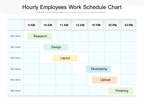 Hourly Employees Work Schedule Chart Ppt PowerPoint Presentation Infographics Example PDF