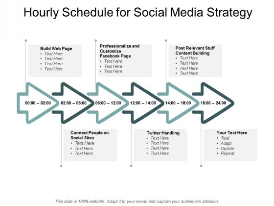 Hourly Schedule For Social Media Strategy Ppt PowerPoint Presentation Icon Master Slide