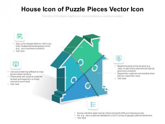 House Icon Of Puzzle Pieces Vector Icon Ppt PowerPoint Presentation Infographic Template Tips PDF