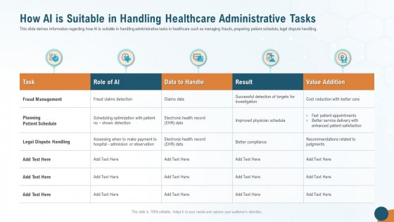 How AI Is Suitable In Handling Healthcare Administrative Tasks Mockup PDF