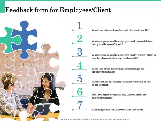 How A Corporate Life Coach Can Help Develop Your Company Feedback Form For Employees Client Brochure PDF