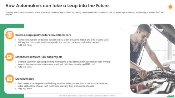 How Automakers Can Take A Leap Into The Future Ppt Pictures Objects PDF