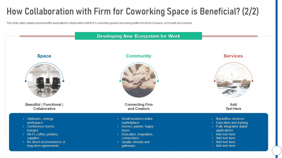 How Collaboration With Firm For Coworking Space Is Beneficial Shared Workspace Professional PDF