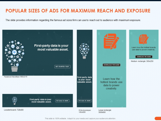 How Increase Sales Conversions Retargeting Strategies Popular Sizes Of ADS For Maximum Reach And Exposure Summary PDF