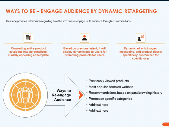 How Increase Sales Conversions Retargeting Strategies Ways To Re Engage Audience By Dynamic Retargeting Themes PDF