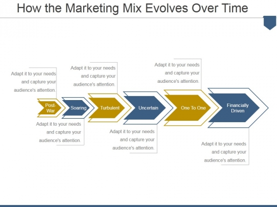 How The Marketing Mix Evolves Over Time Ppt PowerPoint Presentation Show Graphics