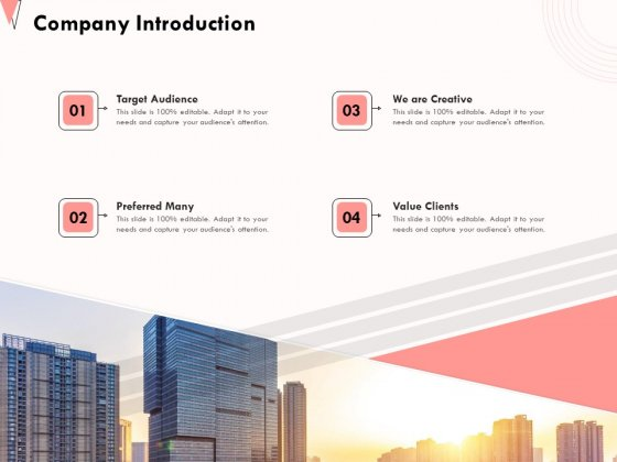 How To Strengthen Relationships With Clients And Partners Company Introduction Ppt Gallery Vector PDF