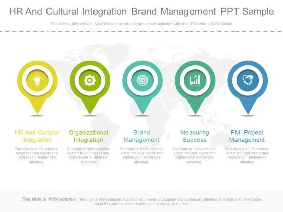 Hr And Cultural Integration Brand Management Ppt Sample