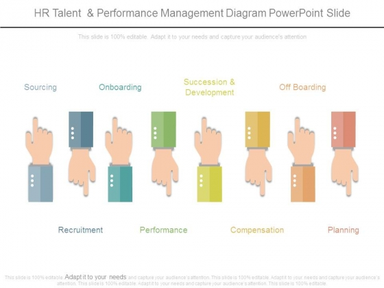 Hr Talent And Performance Management Diagram Powerpoint Slide