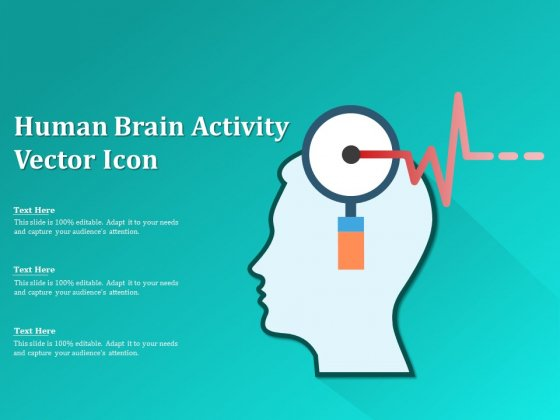 Human Brain Activity Vector Icon Ppt PowerPoint Presentation Outline Sample