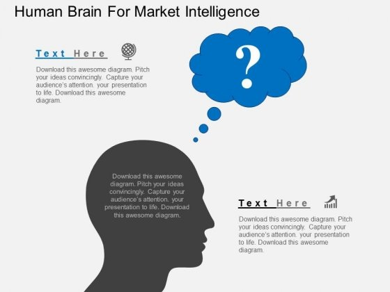 Human Brain For Market Intelligence Powerpoint Template