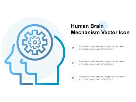 Human Brain Mechanism Vector Icon Ppt PowerPoint Presentation Infographics Skills