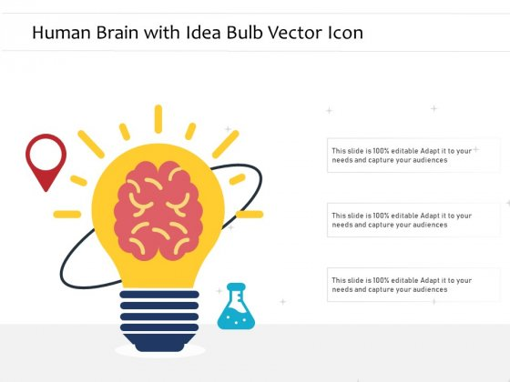 Human Brain With Idea Bulb Vector Icon Ppt PowerPoint Presentation Icon Skills PDF