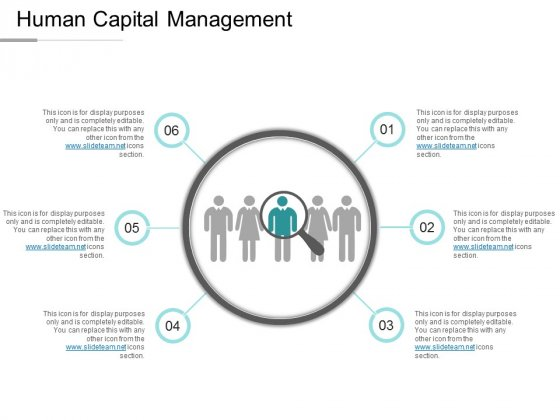 Human Capital Management Ppt PowerPoint Presentation Visual Aids Icon