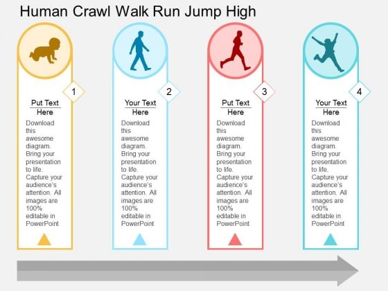 Human Crawl Walk Run Jump High Powerpoint Template