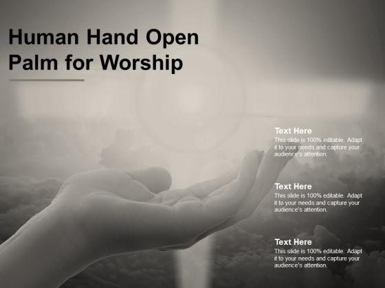 Human Hand Open Palm For Worship Ppt PowerPoint Presentation Portfolio Model