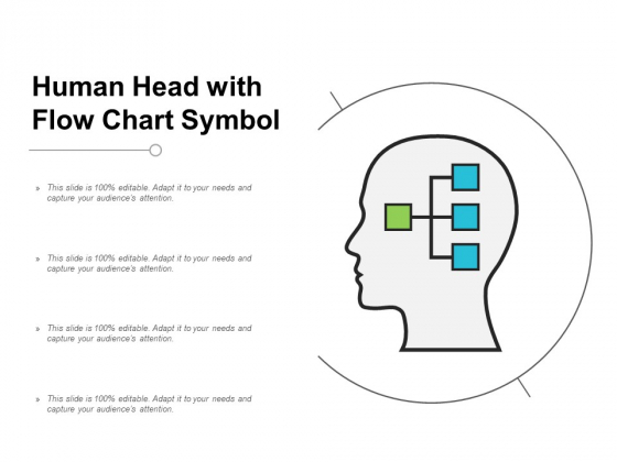 Human Head With Flow Chart Symbol Ppt Powerpoint Presentation Ideas Design Templates