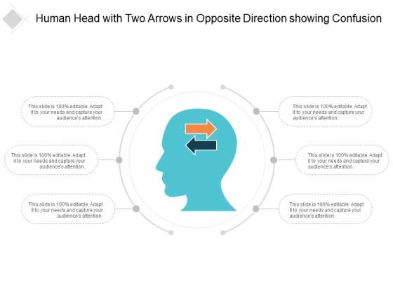 Human Head With Two Arrows In Opposite Direction Showing Confusion Ppt PowerPoint Presentation Pictures Background Image