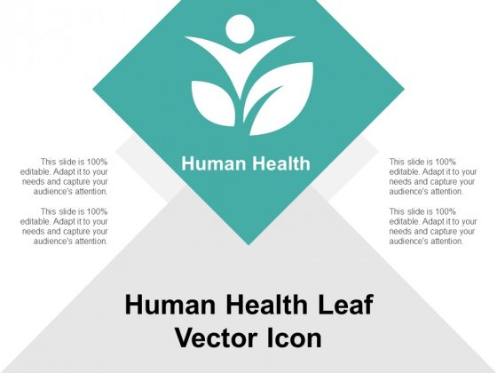 Human Health Leaf Vector Icon Ppt Powerpoint Presentation Gallery Example