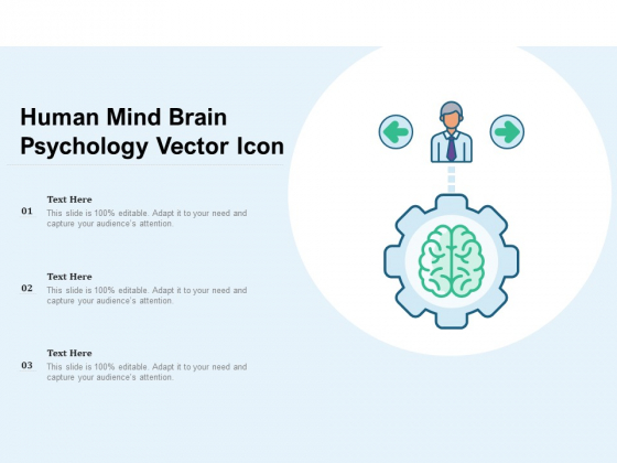 Human Mind Brain Psychology Vector Icon Ppt PowerPoint Presentation Gallery Example Introduction