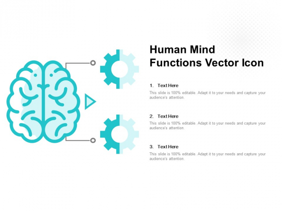 Human Mind Functions Vector Icon Ppt PowerPoint Presentation Layouts Smartart