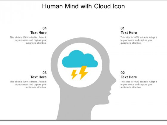 Human Mind With Cloud Icon Ppt Powerpoint Presentation Show Format Ideas