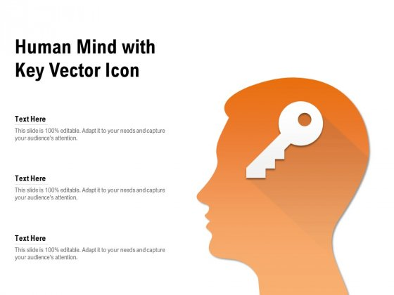 Human Mind With Key Vector Icon Ppt PowerPoint Presentation Inspiration Example PDF