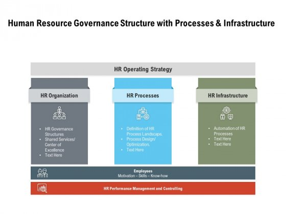 Human Resource Governance Structure With Processes And Infrastructure Ppt PowerPoint Presentation Infographics Master Slide