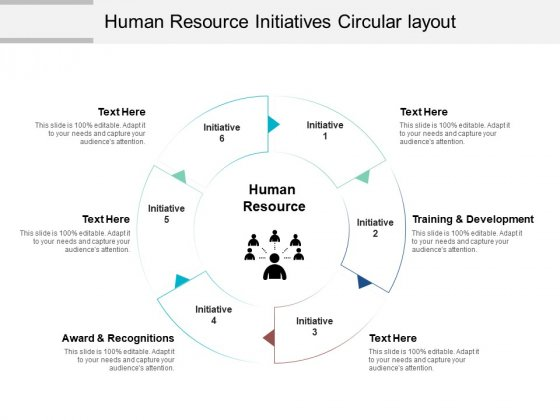 Human Resource Initiatives Circular Layout Ppt PowerPoint Presentation Graphics