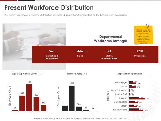 Human Resource Management Present Workforce Distribution Ppt Gallery Visuals PDF