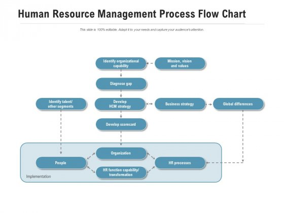 Human Resource Management Process Flow Chart Ppt PowerPoint Presentation Show Graphics Example