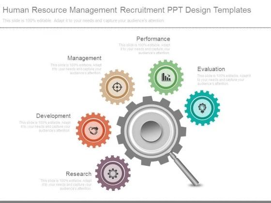 Human Resource Management Recruitment Ppt Design Templates
